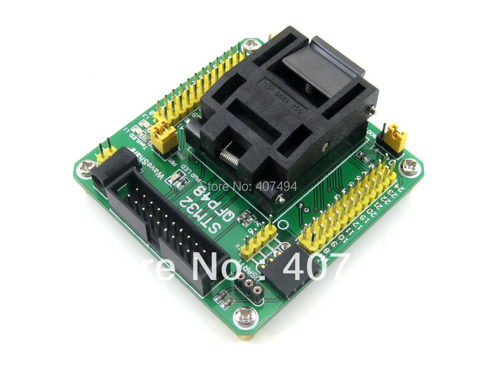 STM32-QFP48 QFP48 LQFP48 STM32F10xC STM32L15xC Yamaichi STM32 IC Test Socket Programming Adapter 0.5mm Pitch free shipping sop32 wide body test seat ots 32 1 27 16 soic32 burn block programming block adapter