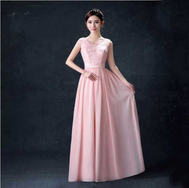robe de mariage embellished long fall dusty rose light pink ...