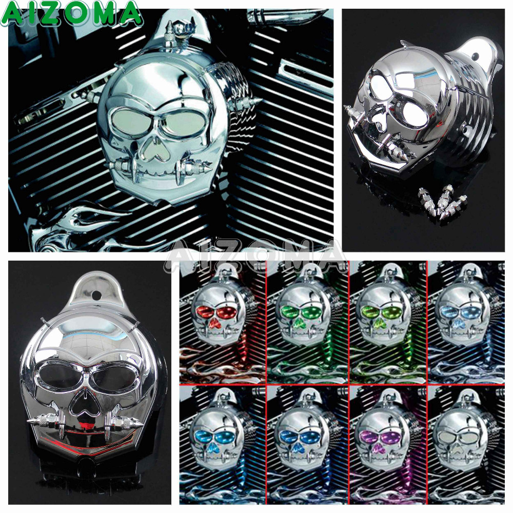Moto Cloche Corne Couverture Multicolore LED Flasher Zombie Corne Garde Couverture Pour Harley Sportster Touring Softail Dyna 92 -14