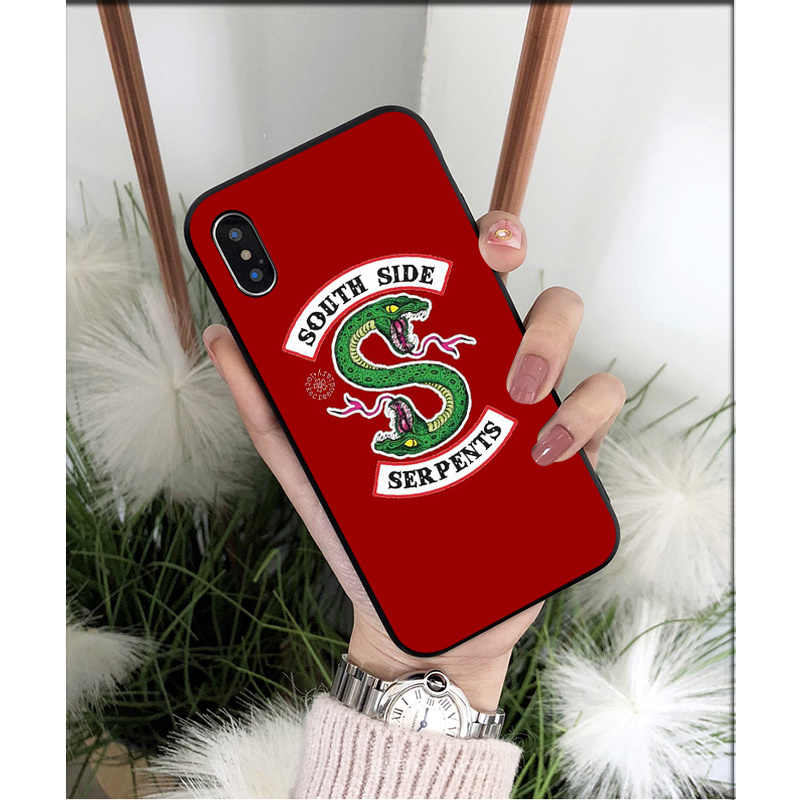 MaiYaCa Riverdale South Side Serpents Snake Silicone TPU Soft Phone Case for iPhone X XS MAX  6 6s 7 7plus 8 8Plus 5 5S SE XR