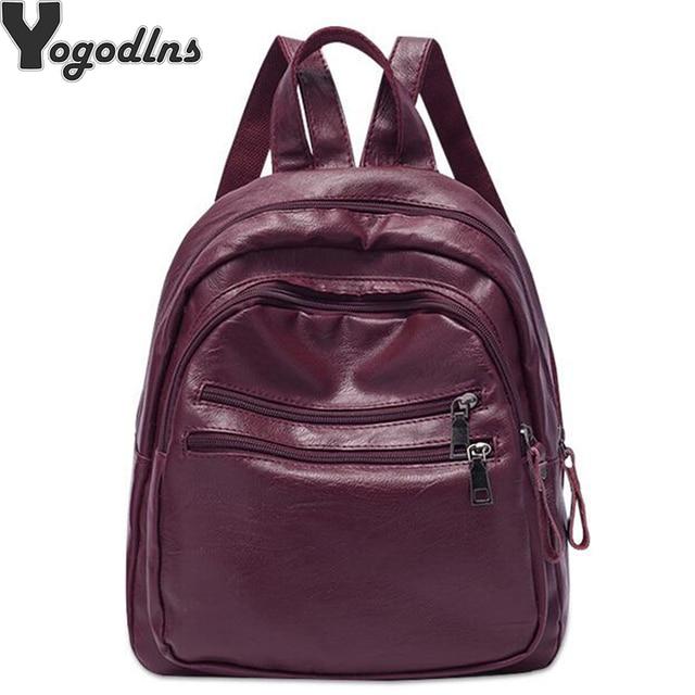 6e117735f395 самый дешевый Мода 2019 женские рюкзаки кожаные женский школьный ...