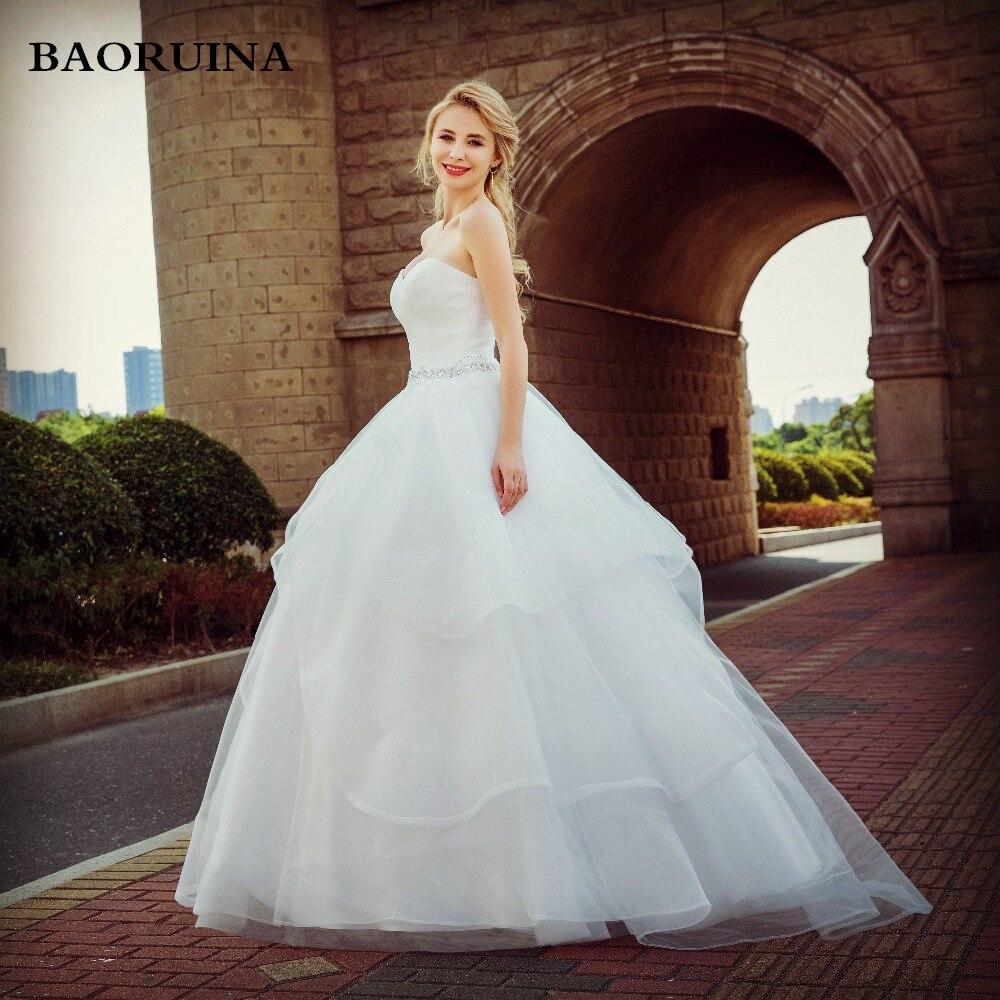 2017 Новое поступление Нежный Кристалл бисера невесты принцесса свадебное платье модные спинки Vestido Роскошные бальное платье Лидер продаж