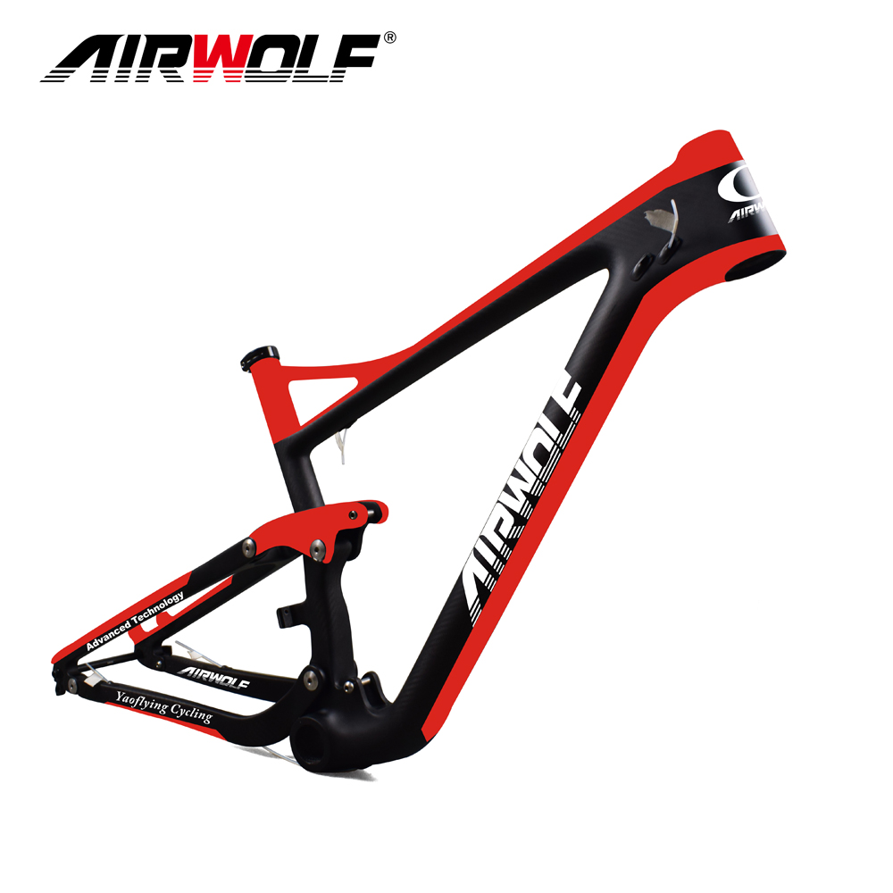 2018 Airwolf Newest Enduro Bike 29er Full suspension Carbon MTB Frame with disc brake 160mm travel 122mm Carbon Frame 29er(China)