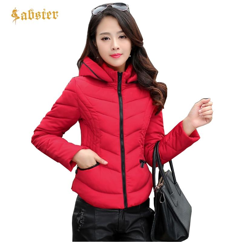 2018 New Style Hooded Women Winter Jacket Short Cotton Padded Womens Coat Casual Slim Long Sleeve