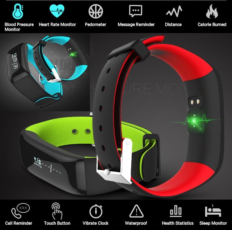 Nordique 51822 Bracelet intelligent pression artérielle fréquence cardiaque femme homme Smartband Sport activité Tracker course vitesse Calories montre