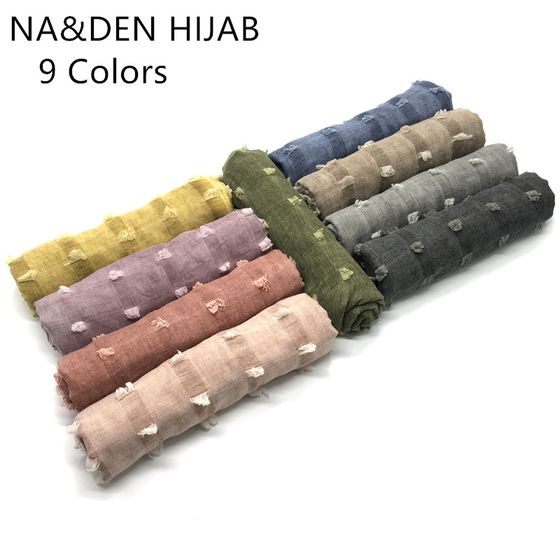 Fashion stripe Tassel pendant Shawls And Scarves Head Wraps Muslim Hijab Cotton Women Scarves Luxury Scarf