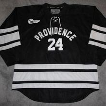 9596fac3 BONJEAN Rare Vintage Providence College Hockey Jersey Embroidery Stitched