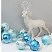 24pcs/lot 60mm Christmas Tree Decor Ball Bauble Hanging Xmas Party Ornament decorations for Home Christmas tree decorations
