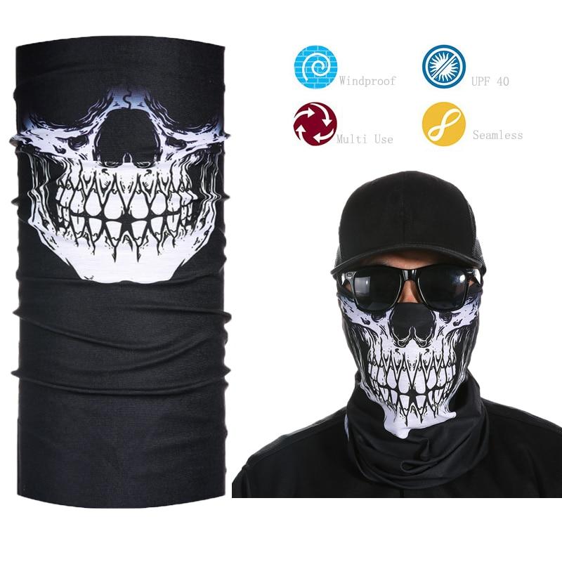 Skeleton Ghost Skull Face Mask Biker