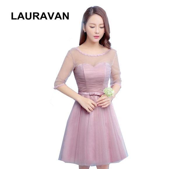 women blush bridesmaid dresses for bridesmaids cheap party dress ...
