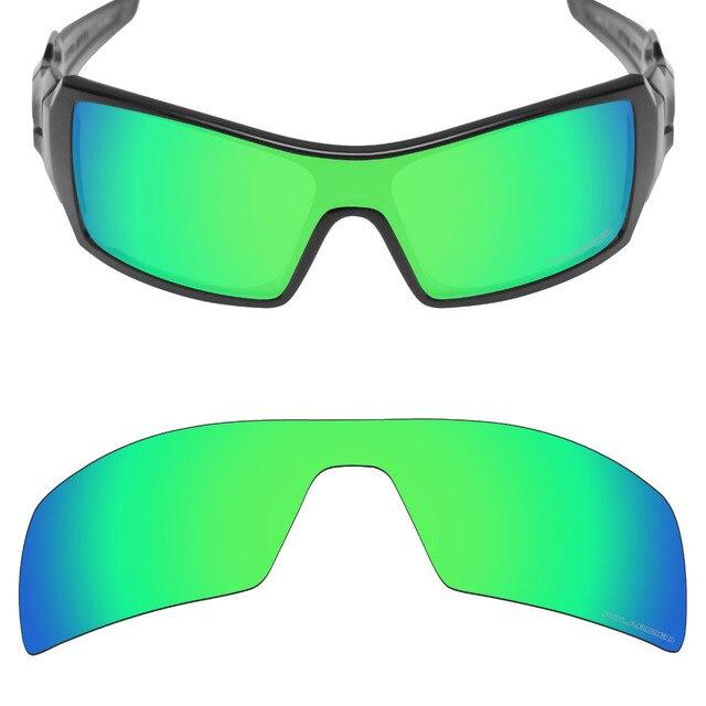 c1e4ada780f Mryok+ POLARIZED Resist SeaWater Replacement Lenses for Oakley Oil Rig  Sunglasses Emerald Green