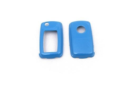 Жесткий Пластик без ключа дистанционного защиты Чехол(глянец синий) для Фольксваген MK4/MK5
