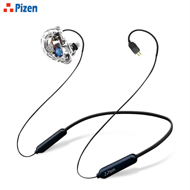 2018 new Pizen VK1 4DD In Ear HIFI DJ Monito Running Sport Earphone Hybrid Headset Bass Earbuds With Mic 0.75mm Replaced Cable