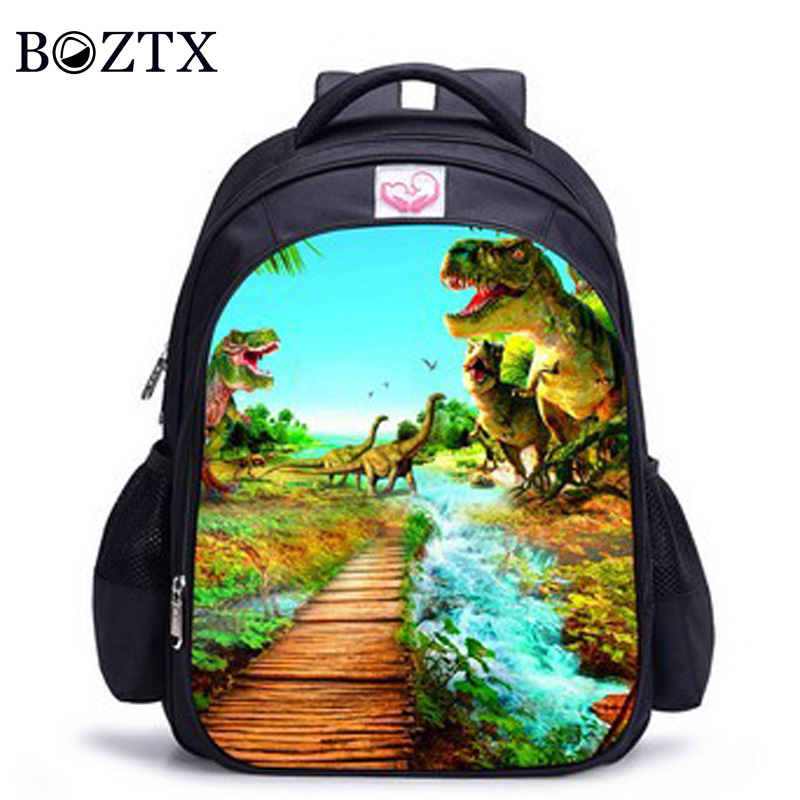 613ab514df9e Jurassic Park Laptop Bags Casual Backpack teenagers Men womens Kids Student  School Bags bookbag travel Shoulder ...
