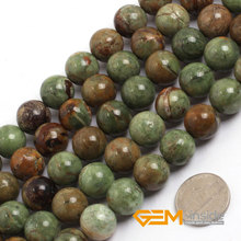 """14mm verde Cuentas De Ópalo Piedra Natural perlas sueltas DIY para La Joyería que hace La Pulsera Hacer Strand 15 """"al por mayor!"""