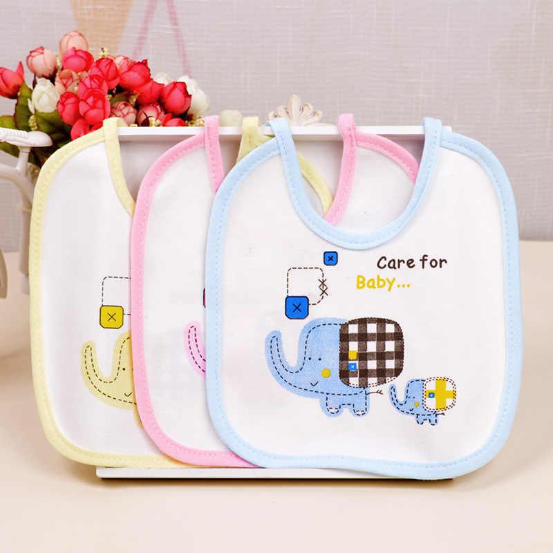 1 Uds. De algodón niñas niños elefante impermeable bebé Baberos para saliva toallas eructos divertidos bebés Baberos impermeables regalo
