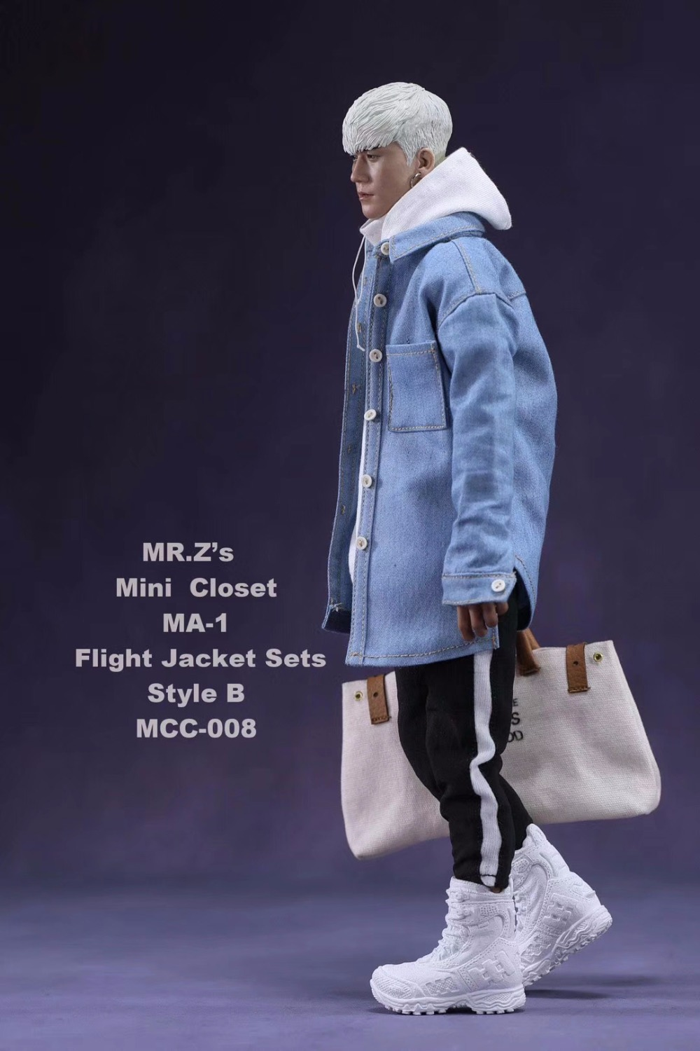 1/6 Male Clothes Set Fashion MR.Z's Mini Closet MA-1 Flight Jacket Sets with Canvas Bucket Bag Style A/B/C for 12'' Figure Body