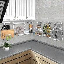 DIY кухонная полка из нержавеющей стали, кухонная полка, подставка для посуды, крышка для сковороды, для хранения, кухонный Органайзер, инструменты