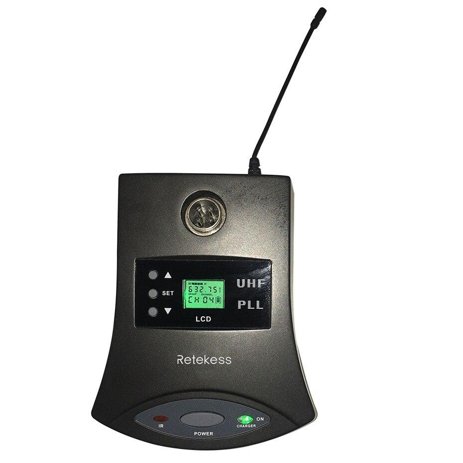 simultânea com microfone transmissor de áudio para