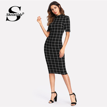 Plaid Collar Pencil Dress