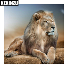 5d diamond painting-lion- full square/round Diamond Embroidery Mosaic  diy Cross Stitch Rhinestone Wedding decoration цена