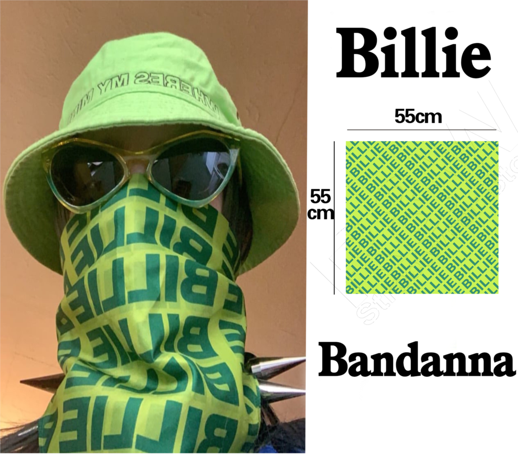 Billie Eilish Bandana Vintage Printed Streetwear Hiphop Billy Bandanna Same Paragraph