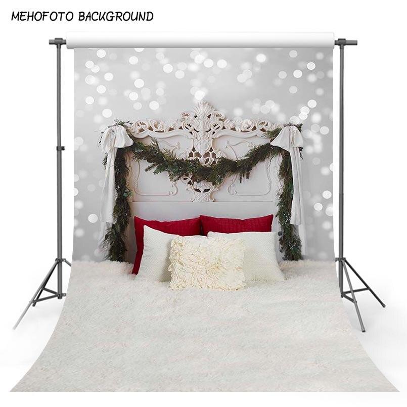 Vinyl Photography Background Plants Headboard Bed Indoor Theme Children Backdrops for Photo Studio S-3047