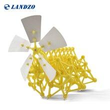 Landzo 2016 Hot Sale DIY Puzzle Wind Powered Walker Walking Strandbeest Assembly Powerful Model Toy Children Gift Drop Shipping