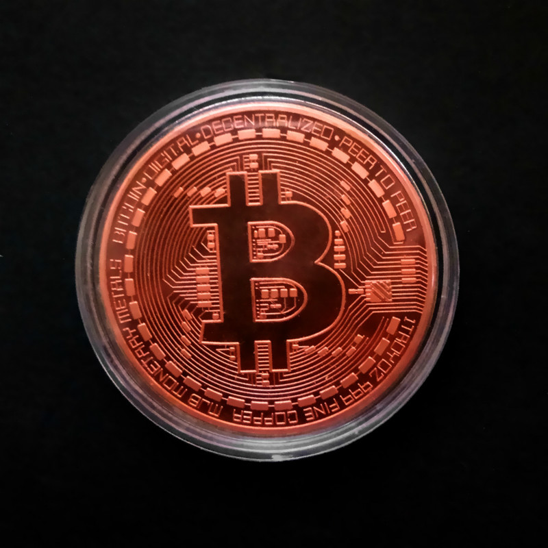 Gold Antique Bitcoin Collectible Art Commemorative Coin Collectible Gift Lucky Gold Plated Coin Bit BTC Metal Imitation40x1.5mm-1