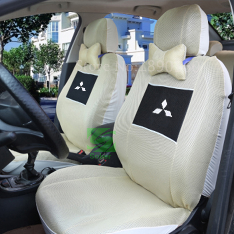 Universal car seat cover for Mitsubish all moede ASX Lancer SPORT EX Zinger FORTIS Outlander Grandis car accessories car sticker