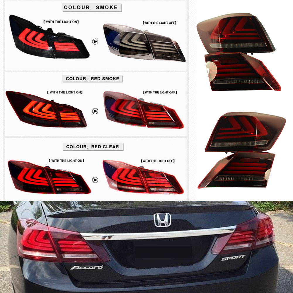 Red Smoke Tail Lights 4 Door Sedan Led Brake Fit For 2017 Honda Accord In Car Light Embly From Automobiles Motorcycles On Aliexpress Alibaba
