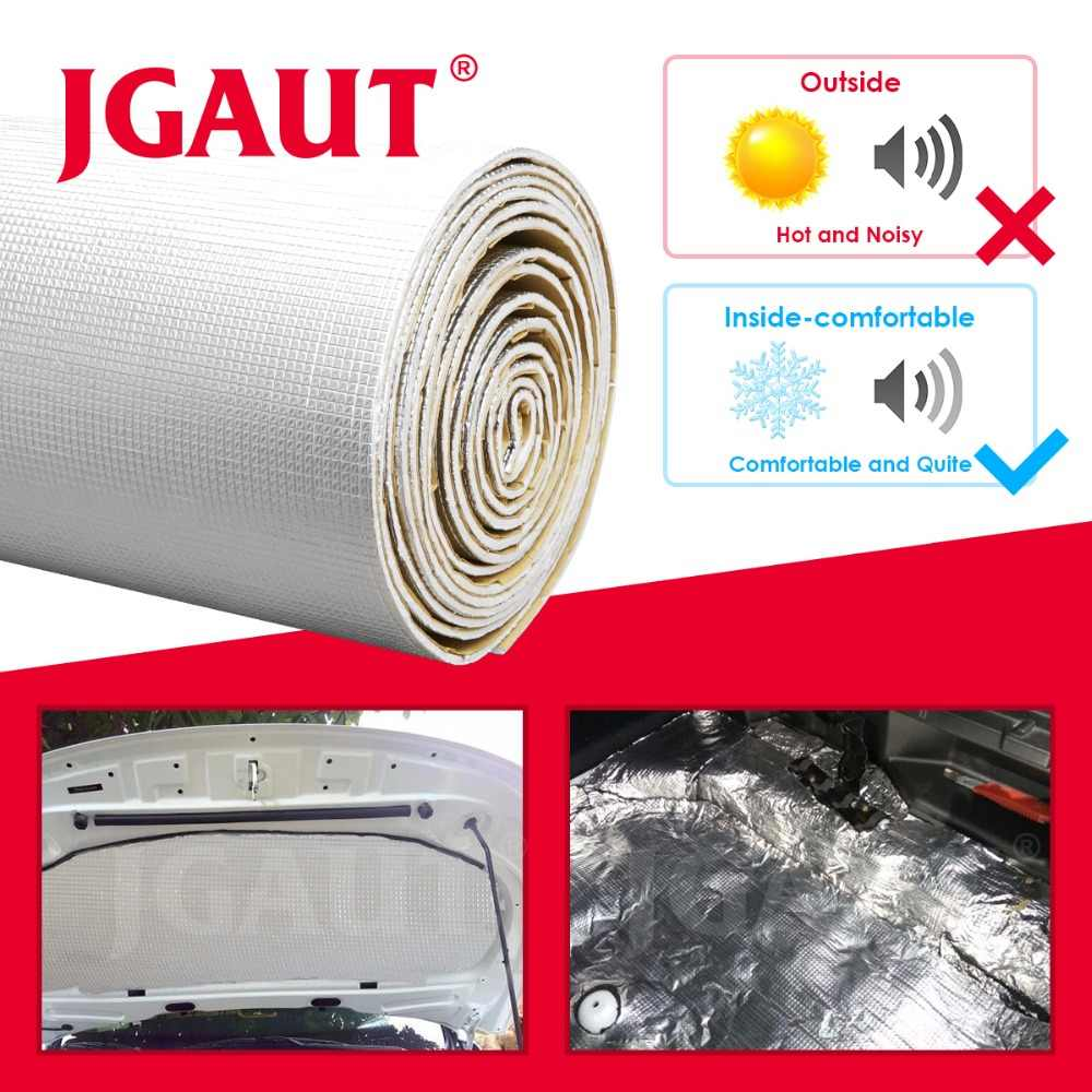 JGAUT Car Audio Sound Deadener Vibration Control Proof Aluminum Foil Cotton Heat Insulation Mat DoorTrunk Hood Self Adhesive