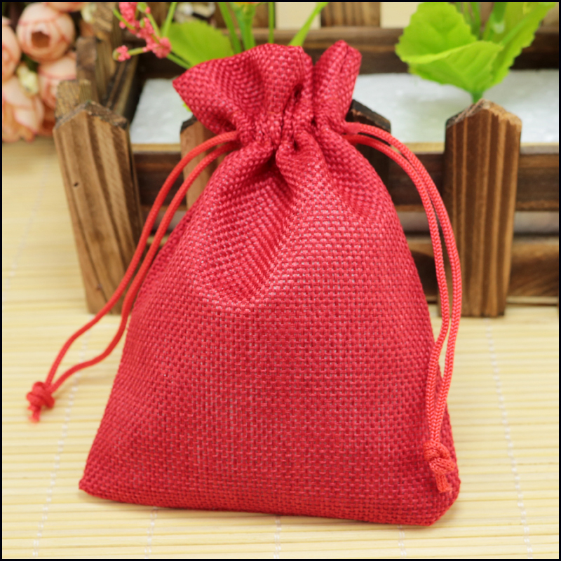 Perfect New Sale Jute Packing Bags Coffee Mugs Pouches Linen Jewelry Bags  UL81