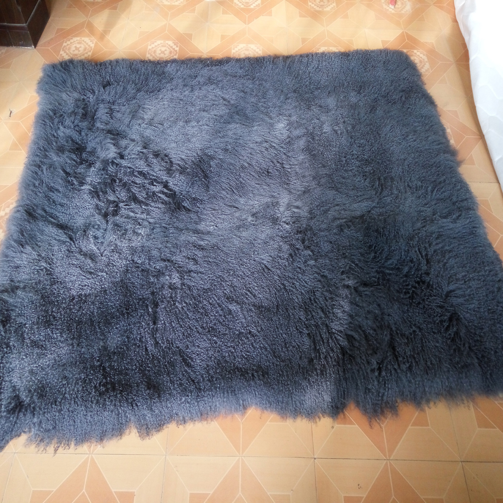 Aliexpress.com : Buy Gray Mongolian Fur Blanket Tibetan