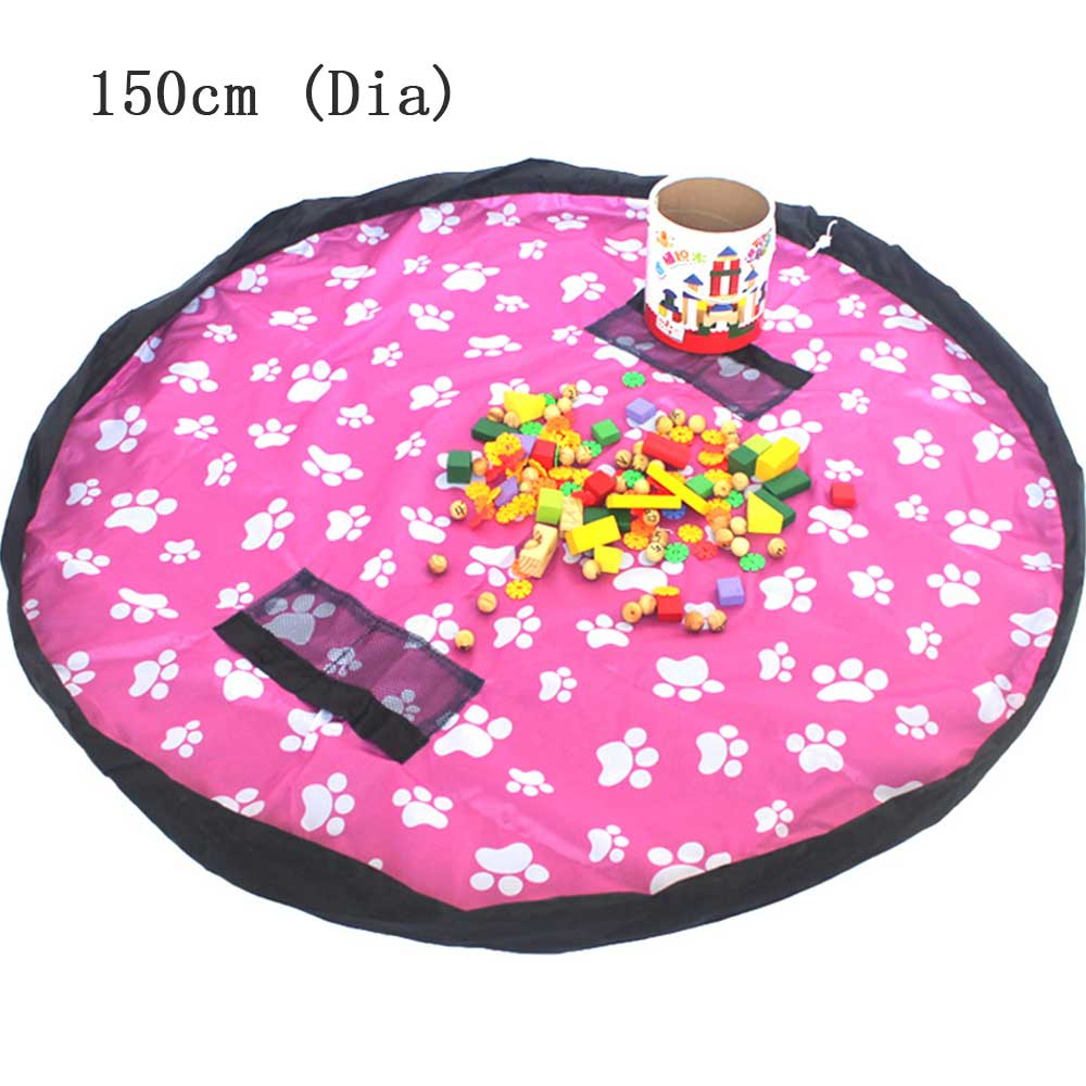 Portable Play Mat Large Storage Bags Quick Toys Organizer