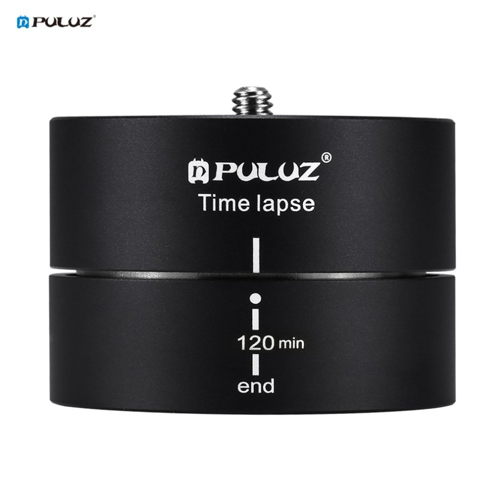 PULUZ PU3516 Aluminum Alloy 360 Degrees Panning Rotation 120 Minutes Time Lapse Stabilizer Tripod Head Adapter