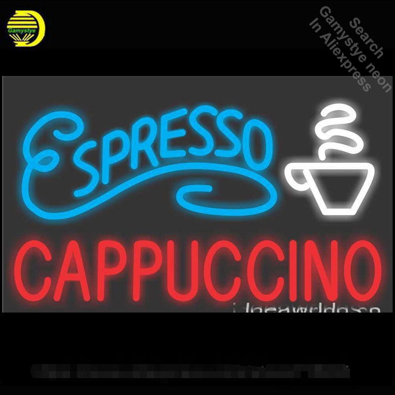 Neon Sign for Espresso Cappuccino Neon Light Sign Beer Bar Pub light Advertise Display Neon Tube Sign handcraft Publicidad lamp