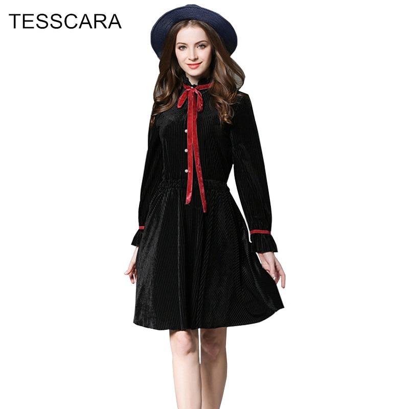 Women Autumn Winter Vintage Dress Shirt Female Velvet Warm Vestidos Retro Robe Femme Ukraine Long Sleeve
