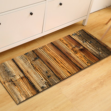 Деревянный узор прямоугольные коврики для прихожей Добро Пожаловать Дверные коврики на полу Нескользящие Kicthen области ковры спальня прикроватные коврики