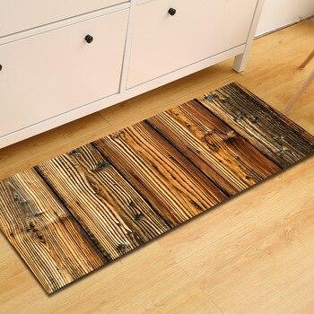 цены Zeegle Long Kitchen Mat Wood Pattern Mats for The Hallway Welcome Door Mats Floor Rug Anti-slip Kicthen Area Rug Bedside Rug