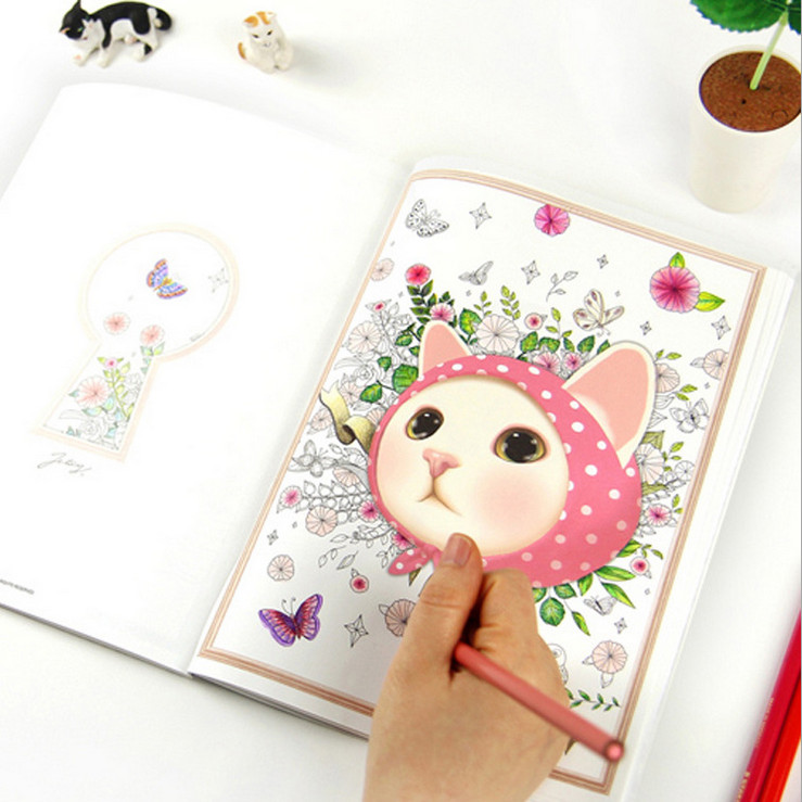 Aliexpress Buy Newest 80Pages Korea Style 25cm Secret Garden Coloring Book Drawing Toys Mandala Educational Kids PS033 From
