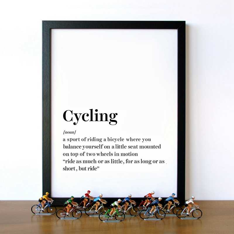 Cycling Definition Wall Art Canvas Prints And Poster , Modern Minimalism Cycling Sport Art Canvas Painting Home Room Decor