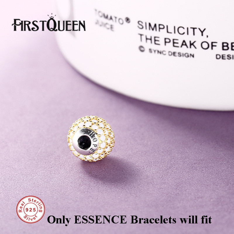 FirstQueen 100% Silver 925 Hope Charm Essence Beads Fit Essence Bracelets Bangles DIY For Jewery Making Fine Jewelry