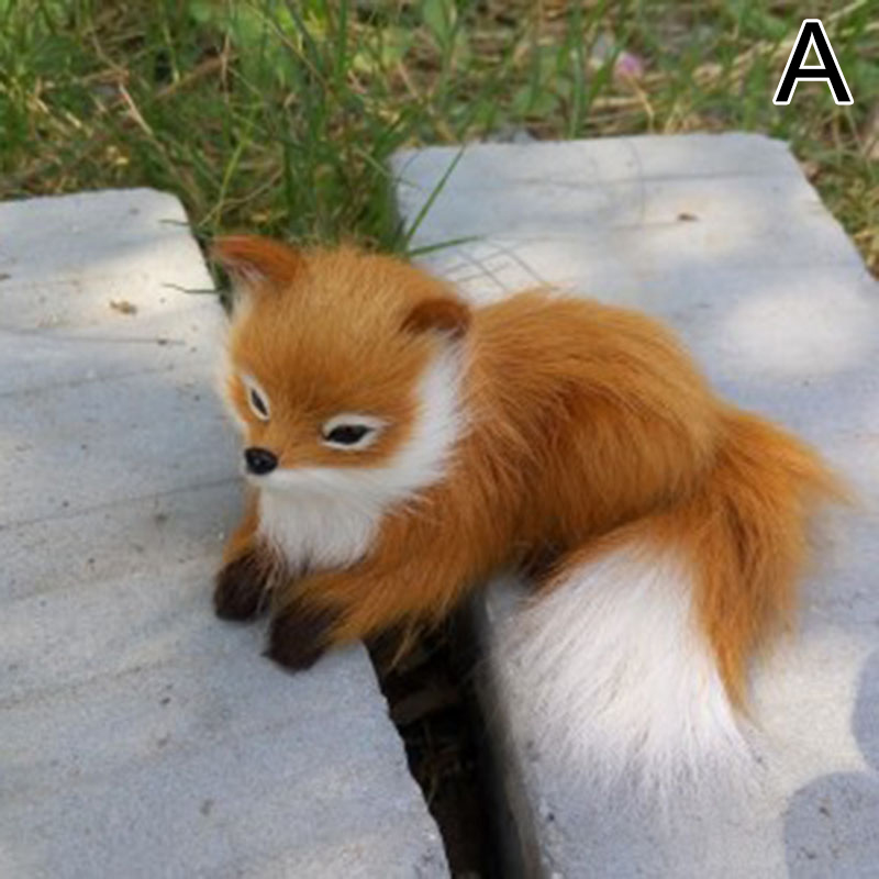 New 1 Pcs Simulation Animal Foxes Plush Toy Doll Photography For Children Kids Birthday Gift