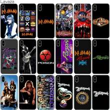 Lavaza Def Leppard Case for iPhone X 8 7 6 6S Plus 5 5S SE(China)