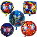 10pcs/lot 45*45cm spiderman balloons helium foil globos heros Children's birthday party decorated Spider man new year balloon