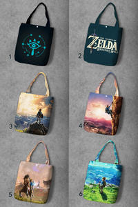 Handbag Tote Canvas Foldable Customized Anime Fashion New Casual Zelda-Link IVYYE Girls