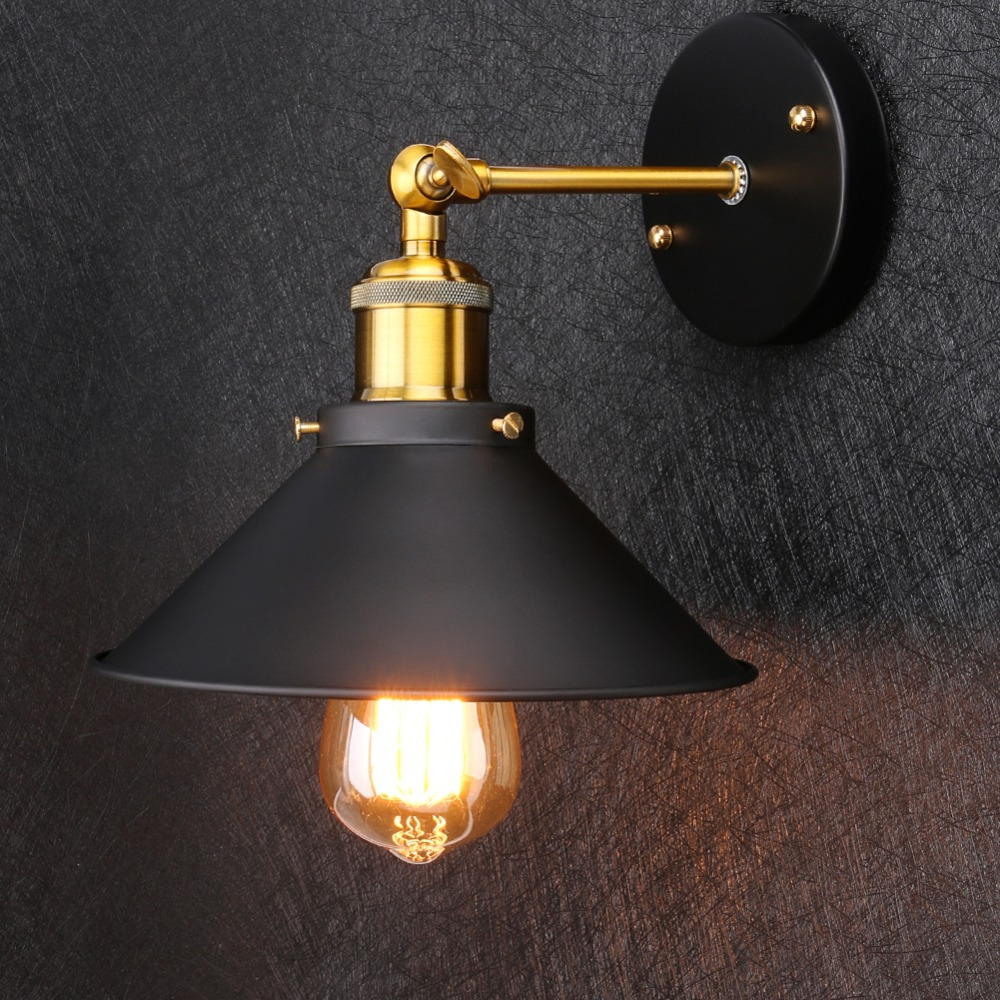 Lovely Smuxi E27 Vintage Industrial Swing Arm Wall Light Bowl Sconce Loft Rustic Iron Material Lamp Lampshade For Restaurant Bar Home Attractive Designs; Lighting Accessories