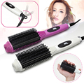 2-In-1 Multifunctional Anti-scald Fast Hair Straightener Comb Hair Curler Brush Electric Straightening Irons Comb Stick