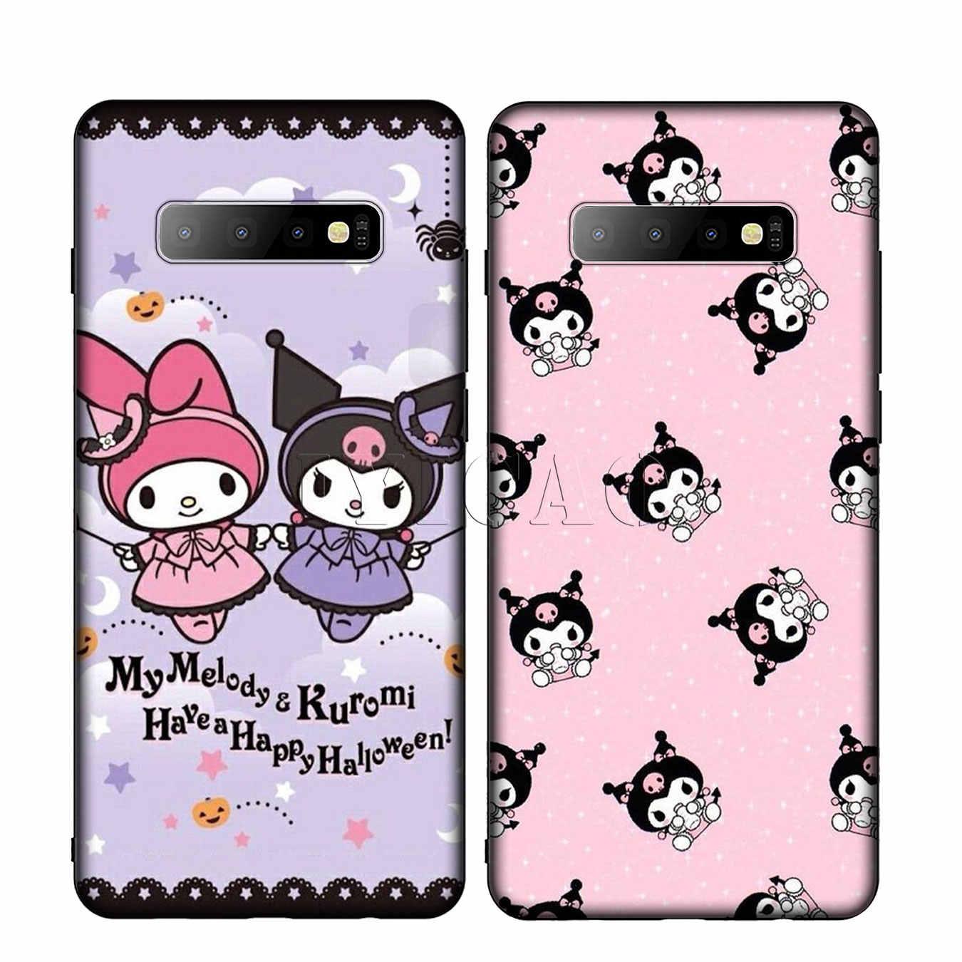 Kuromi IYICAO Colorido Bonito do amor de Silicone Caso Telefone Macio para Samsung Galaxy S10 S9 S8 Plus S6 S7 Borda S10e E Tampa